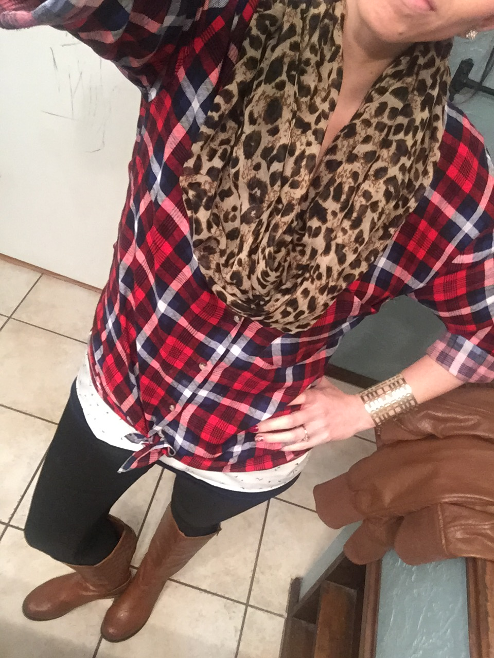 Some of my new outfits in my new clothes. :)